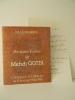 CATALOGUE ET LETTRE AUTOGRAPHE. Catalogue de l'exposition «Peintures Ecrites de Mehdi Qotbi» présentée à Brive en 1985. . QOTBI (Mehdi)