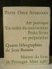 ART POETIQUE. UN ORDRE DU MOUVEMENT. PETITS LIVRES EN PREPARATION. Quatre lithographies de Jean Bazaine.. [BAZAINE (Jean)]  OSTER SOUSSOUEV (Pierre)