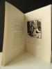 ELEGIE A MARIE. Illustré par Carlègle de gravures sur bois. . [CARLEGLE]  RONSARD (Pierre de)