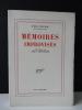 MEMOIRES IMPROVISES recueillies par Jean Amrouche.. CLAUDEL (Paul)