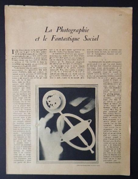 LA PHOTOGRAPHIE ET LE FANTASTIQUE SOCIAL.. MAC ORLAN (Pierre)