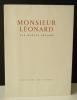 MONSIEUR LEONARD. Nouvelle.. ARLAND (Marcel)