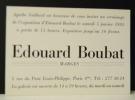 MARGES. Carton d'invitation exposition Marges le 5 janvier 1985 galerie Agathe Gaillard. . BOUBAT (Edouard)