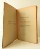UN VIVANT ET DEUX MORTS. Léon Bloy, Ernest Hello, Villiers de l'Isle-Adam, notes bibliographiques et morceaux choisis. . MARTINEAU (Henri)