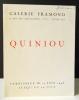 QUINIOU. Catalogue exposition Galerie Framond, Paris 1946. Catalogue de l'exposition présentée à la galerie Framond en juin 1946. . BORY (Jean-Louis)