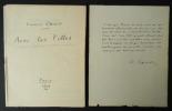 AVEC LES FILLES. Phototypie du manuscrit + texte autographe.. CARCO (Francis)