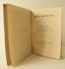 PHILOKTETES. Tragédie de Sophocle. Traduite et mise à la scène par Pierre Quillard. Musique de Arthur Coquard.. [QUILLARD (Pierre)]  SOPHOCLE