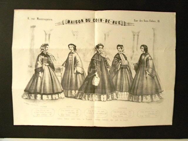 MAISON DU COIN-DE- RUE. Affiche lithographique. Dessin signé V. Albert. . [GRANDS MAGASINS] PUBLICITE