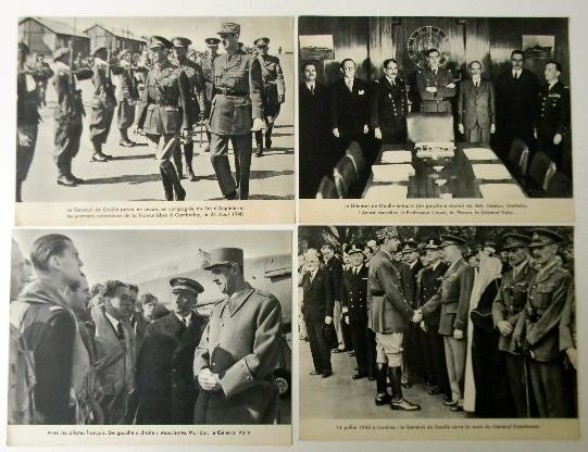 QUATRE PHOTOGRAPHIES EN HELIOGRAVURES. Années 1940. . DE GAULLE