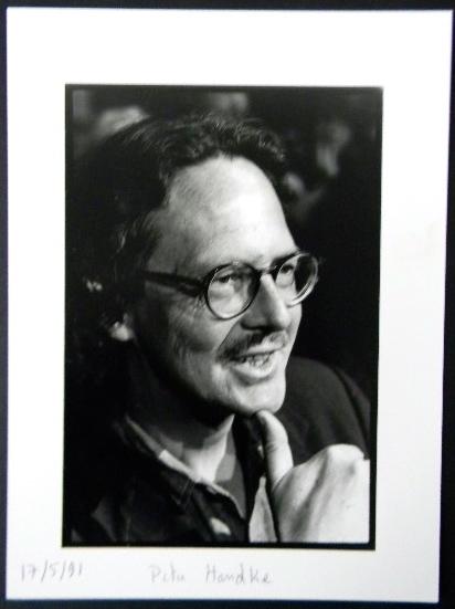 PHOTOGRAPHIE ORIGINALE. Portrait de Peter Handke.. HANDKE (Peter)