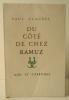 DU COTE DE CHEZ RAMUZ.. CLAUDEL (Paul)