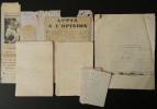 HISTOIRE SANS PAROLES. Manuscrit autographe et tapuscrit corrigé.. BERAUD (Henri)
