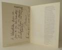 PRENTICE. Catalogue exposition galerie Gérard Laubie 1979.. PRENTICE (Michael)