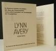 LYNN AVERY. Peintures.  Carton d'invitation au vernissage de l'exposition des peintures de Lynn Avery organisée par Colette Allendy du 25 novembre au ...