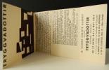 TRYGGVADOTTIR. Carton d'invitation au vernissage de l'exposition Tryggvadottir présentée du 27 avril au 13  mai 1954 par la galerie Colette Allendy à ...