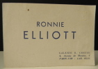 RONNIE ELLIOTT. Catalogue - invitation au vernissage de l'exposition de l'artiste américaine Ronnie Elliott du 18 au 30 juin 1948 à la Galerie R. ...