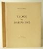 ELOGE DU DAUPHINE.. CLAUDEL (Paul)