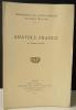 ANATOLE FRANCE. Bibliographie des œuvres d'Anatole France.. TALVART ET PLACE