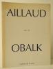AILLAUD PAR / BY OBALK.. OBALK (Hector)