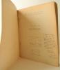 EXPOSITION BALZAC. Sa vie – Son œuvre. Catalogue de l'exposition organisée pour l'année Balzac 1949- 1950 par le Foyer culturel de Brive-la-Gaillarde ...