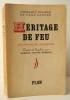HERITAGE DE FEU. Souvenirs de Bayreuth. 1923-1940.. WAGNER (Friedlind) et COOPER (Page)