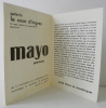 MAYO. Peintures. Carton d'invitation au vernissage de l'exposition Mayo à la galerie La Cour d'Ingres le 13 novembre 1959.. PIEYRE DE MANDIARGUES ...
