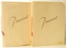 DEUX CATALOGUES PROFESSIONNELS DES ANNEES 50.. [BACCARAT (Cristalleries de)]