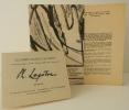 PROLEGOMENES POUR UNE NOUVELLE PHILOSOPHIE DE LA CRITIQUE. Exposition des peintures de Philippe Lepâtre chez Colette Allendy du 7 au 22 décembre 1956. ...
