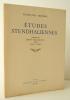 ETUDES STENDHALIENNES. Présentées par Henri Martineau et Jean Fabre.. [STENDHAL] MICHEL (François)