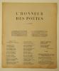 L'HONNEUR DES POETES.  Edition originale en tract. . L'HONNEUR DES POETES. Aragon (Jacques Destaing, François La Colère), Leiris (Hugo Vic), Hugnet ...