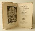 CINQ MOIS DE L'HISTOIRE DE FRANCE OU LA FIN DE LA VIE POLITIQUE DE NAPOLEON. Avec une gravure historique.. REGNAULT DE WARIN (Jean-Baptiste)