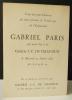 GABRIEL PARIS 1959-61. Carton d'invitation au vernissage de l'exposition Gabriel Paris à la Galerie J.-C. Chaudun le mercredi 25 janvier 1961. . ...