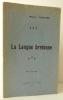 LA LANGUE BRETONNE.. [BREIZ ATAO] GUIEYSSE (Marcel)