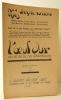 L'OEUF DUR. N° 4, été 1921.. OEUF DUR (L')