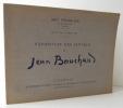 EXPOSITION DES OEUVRES DE JEAN BOUCHAUD.   Catalogue de l'exposition présentée par l'Art français du 12 au 22 mars 1943. . [BEAUX-ARTS]