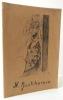 N. GONTCHAROVA. Gemälde-Aquarelle-Zeichnungen.  Ce catalogue décrit et reproduit en noir et blanc 65 oeuvres de Gontcharova exposées à la galerie ...