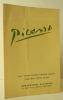 PICASSO. Catalogue de l'exposition Picasso présentée à New York par Durand-Ruel Galleries du 3 au 28 mai 1948. . [PICASSO]  PICASSO.