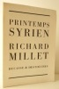 PRINTEMPS SYRIEN.. MILLET (Richard)