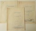 UN PEU DE TISANE. Lettre à S.E. Camille Chautemps Ministre d'Etat. Tapuscrits originaux corrigés.. BERAUD (Henri).