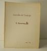 E. COURNAULT. Catalogue de l'oeuvre gravé. .  [BEAUX-ARTS]  SIMON-COURNAULT Mme. Nouvelles de l'Estampe n°2.