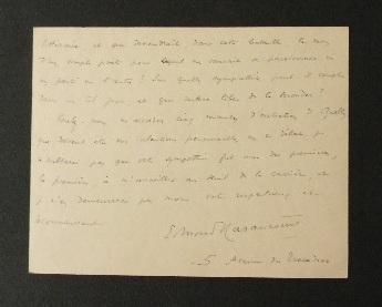 HARAUCOURT. Lettre autographe signée..   [AUTOGRAPHE]  HARAUCOURT (Edmond).