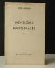 MENTIONS MARGINALES. Poèmes. .   BRINDEAU (Serge).