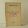 CARNET D'UN VOYAGEUR EN ISRAEL..   [ISRAEL]  PIERRE-BLOCH (Jean).