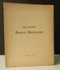 COLLECTION GEORGE HAVILAND..    [ARTS DECORATIFS]  LAQUES, NETSUKE, POTERIES, BRONZES, PEINTURES PARAVENTS du JAPON