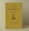 LES CAHIERS DE SAINTE-BEUVE suivis de quelques pages de littérature antique..    SAINTE-BEUVE.