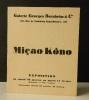 MICAO KONO. Catalogue d'exposition (la première ?) à la galerie Georges Bernheim & Cie, sans date (1929).  .  KONO (Micao).