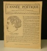 "GASTON BONHEUR.  . BONHEUR (Gaston)  REVUE "" L'ANNEE POETIQUE """