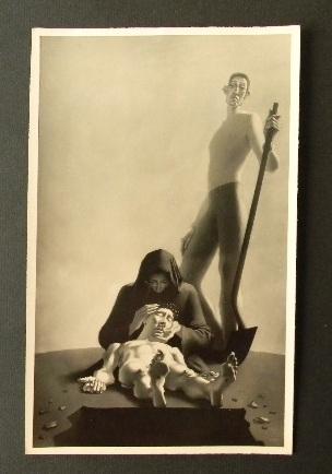 """Photographie originale du tableau """"La mise au tombeau"""" de Georges ROHNER. Photographie de Marc Vaux.. ROHNER (Georges)"""