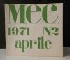 MEC n°2. Aprile 1971. .  [BERTINI (Gianni)]  REVUE MEC.