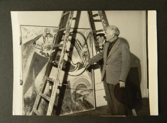 PHOTOGRAPHIE ORIGINALE DE CHAGALL.. CHAGALL (Marc)